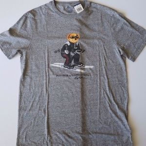Ralph Lauren Polo Bear Ski Skiing T-Shirt L